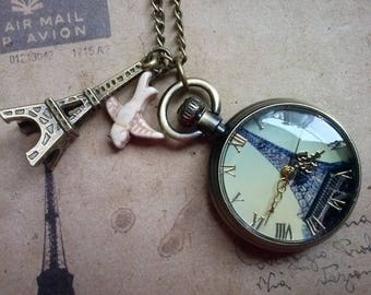 Eiffel Tower necklace No.. 2 ~ bronze ~.