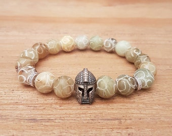 Man, Gladiator-11, Indian agate bracelet.