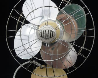 Vintage oscillating electric fan by Limit