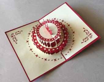 pop up birthday card  etsy, Birthday card