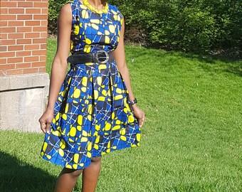 African dress.  African print dress.  Ankara dress. Size: Small.