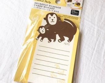Monkey and Banana Note Pad