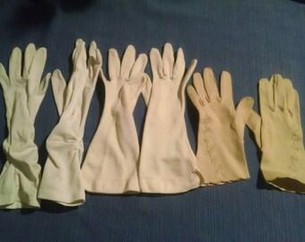 Lot of three vintage formal gloves