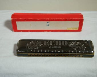 G Scale Echo M. Hohner Harmonica