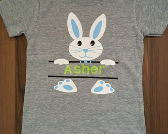 Personalizable little boy Easter Bunny shirt