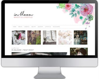 Premade responsive blogger template - IN BLOOM