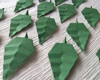 Decorative origami leaves 16 PCs