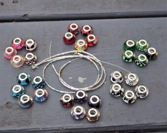 Interchangeable Chinese Lantern Bead Bracelet
