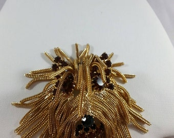 GREAT FRINGED SHEEPDOG Brooch Unsigned
