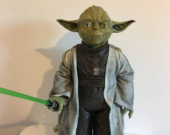 "CUSTOM 18"" Jakks Pacific Yoda figure"