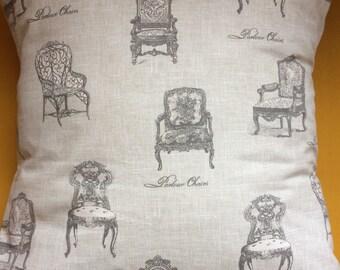 Vintage Chair Print Cushion Cover
