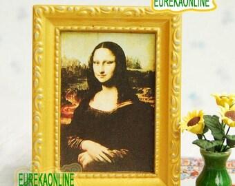 Dolls House Miniature Painting Mona Lisa