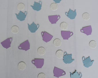 Afternoon Tea Confetti, Tea Party, Table Scatter, Tea Party Decor. Birthday Party Decor, Alice in Wonderland Party, Mad Hatter Tea Party