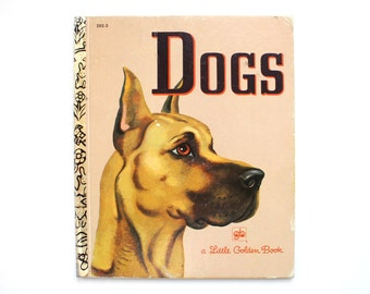 1979 Little Golden Book about Dogs Hardcover Vintage Children's Book Kids 1970's