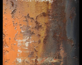 abstract photography, fine art photography, industrial art, abstract art, rust, orange, gold, brown, gray, rustic, urban art, fine art print