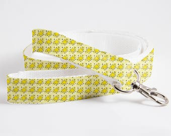 Stars Patterned Dog/Cat Leash-Yellow Textile Leash