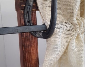 Horse Shoe Curtain Rod Holder