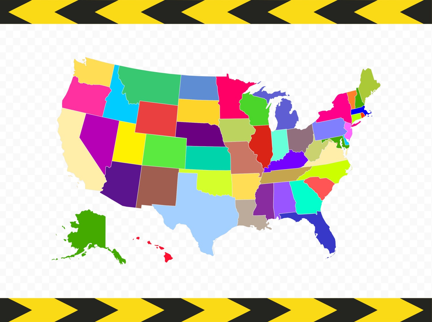 USA Map SVG Files For Cricut Silhouette United States Map - Map of the 50 states of usa