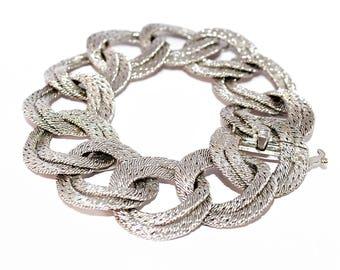 Bracelet mesh woven bracelet Georges Lenfant