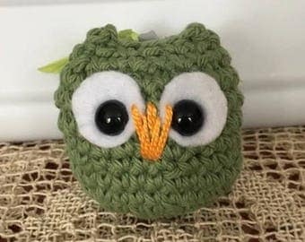 Forest green small amigurumi ow
