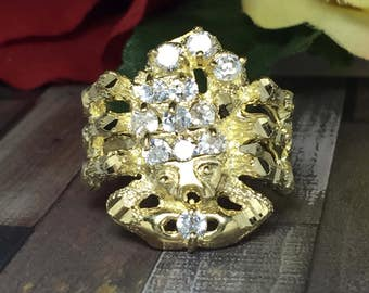 BIG 10k solod gold Men's Scorpion ring - Zodiac Sign rings - Scorpio Rings