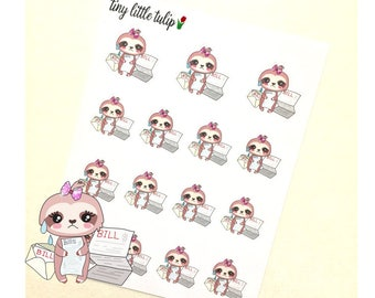 Planner Stickers Sloth Pay The Bills