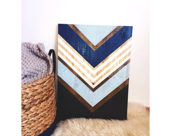 Geometric wooden table