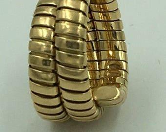 Bulgari ring 18 K Yellow Gold The Triple Wrap Serpenti  Tubogas Size 6.5