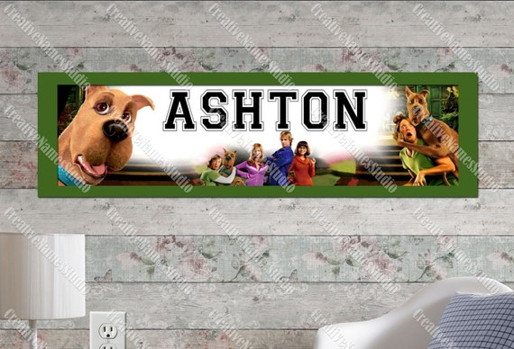 Personalized Scooby Doo Wall Banner by CreativeNamesStudio