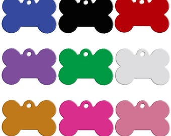 20 Pcs Aluminum Double Sided Bone PET ID Stamping Blank Tag