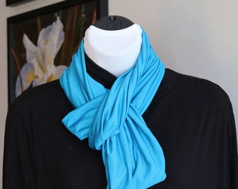 Aqua/Blue Infinity Scarf, Circle Scarf, Women's scarf, Gifts for Her