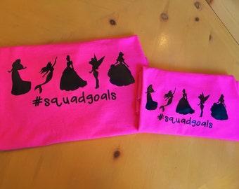 Disney Princess Squadgoals Shirt #squadgoals // Disney Family Shirts // Disney Vacation Shirts // Disney Princesses