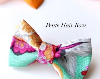 Summer - Petite Hair Bow - little girls; babies; hair clips; headband