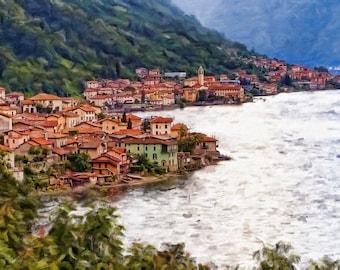 Italian Village on Lake Como
