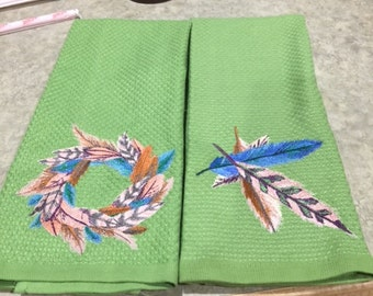 Feathers Dish Towel Set