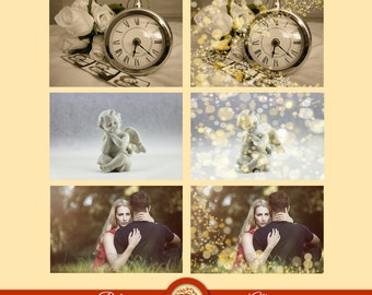 Digital Sparkles Photoshop Overlay - Bokeh Light Effect for Photographers - 12 Versions - Instant Download