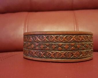9 inch leather cuff