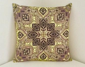 Cushion Cover, Geometric Cushion, Modern Pillow, Mandala Print Cover