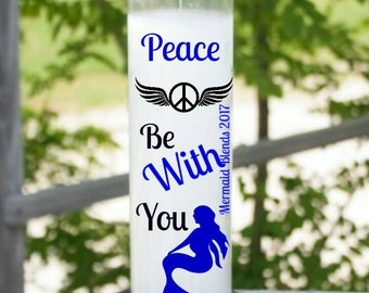 Peace be with you Affirmation Candle//Prayer Candle ScentedCandle//Valentine gift Meditation Candle// 7 day Candle//Spiritual Candle