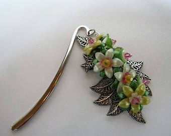 Sping Blooms Beaded Bookmark