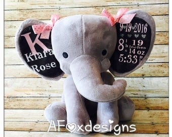Personalized Baby Stat Elephant