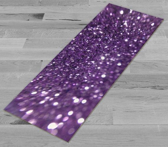 Purple Glitter Yoga Mat Pilates Mat
