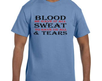 Christian Religous Tshirt BloodSweat Tears Jesus model xx10112