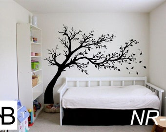 Vinyl Wall Decal, Wall Sticker, City, Ideas, Fun, Tree,Nursery Wall Decal,  Black Nursery Tree, Wall Decals, Modern Vinyl