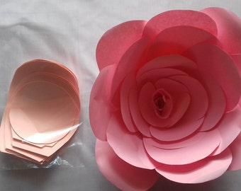 Giant origami flowers