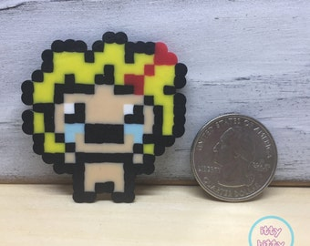 Binding of Isaac Maggie perler magnet | miniature perler beads | mini perler magnet | Indie video games