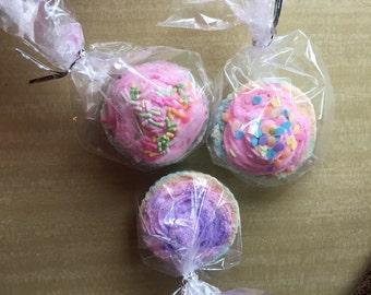 Cupcake with icing Bath Bombs