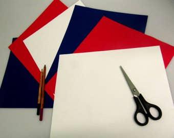 PVC sheet fabric for crafts. Pack of 6 PVC sheets. 580 gsm fr pvc