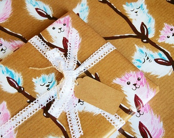 Kitty Catkins - Luxury Gift Wrap Pack (Lace Trim Ribbon)