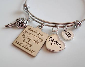Wedding gift for mom, mother of the bride gift, bridal gift for mom from daughter mother of the groom gift Thank you for standing by my side